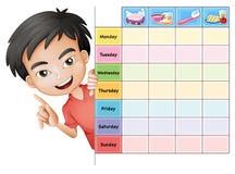 Мальчик и таблица Стоковые Изображения RF
