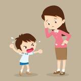 Мальчик и учитель ярости Стоковая Фотография RF
