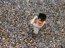 Мальчик и шарик Стоковая Фотография