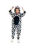 Мальчик как счастливая корова Стоковое фото RF