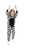 Мальчик как счастливая корова Стоковое Изображение