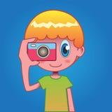 Мальчик камеры Стоковое фото RF