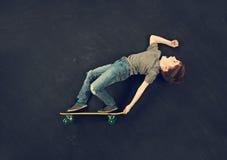 Мальчик конькобежца Стоковое Изображение