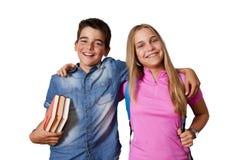 мальчик коробки 3 предпосылок содержит легкий редактируя вектор студентов стойки эскиза листа школы слоев девушки архива Стоковое Изображение RF