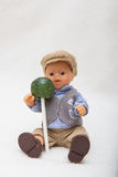 Мальчик куклы с леденцом на палочке Стоковое Изображение