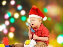 мальчик маленький santa Стоковое Изображение RF