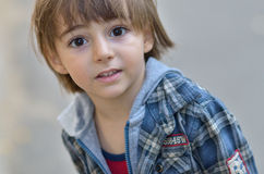 мальчик меньший портрет Стоковое Изображение RF