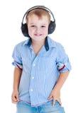мальчик меньшяя студия портрета Стоковое Фото