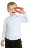 мальчик меньшяя студия портрета Стоковые Изображения RF