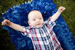 Мальчик 4 месяцев старый Стоковое Изображение RF