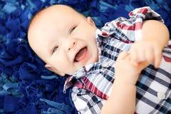 Мальчик 4 месяцев старый Стоковое фото RF