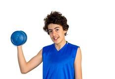 Мальчик мышцы Стоковое фото RF