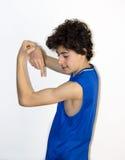 Мальчик мышцы Стоковые Фотографии RF