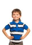 Мальчик на белизне Стоковое Изображение