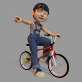 Мальчик на велосипеде бесплатная иллюстрация