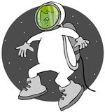 Мальчик на выходе в открытый космос Стоковое Изображение RF