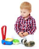 мальчик немногая играя Стоковое Изображение RF