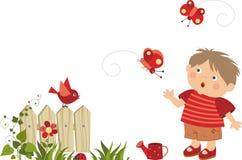 мальчик немногая прогулка бесплатная иллюстрация