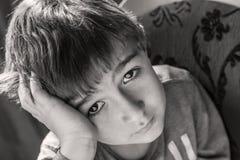 мальчик немногая унылое Стоковое Изображение RF