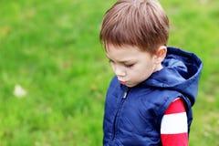 мальчик несчастный Стоковые Фото