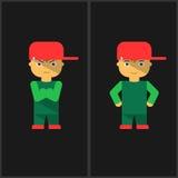 Мальчик нося крышку вектор Стоковые Изображения