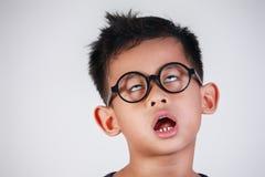 Мальчик очень пробуренный и несчастный Стоковое Изображение RF