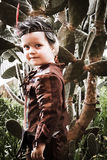 Мальчик одетый в индийском костюме Стоковая Фотография RF