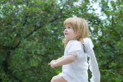Мальчик одетый как ангел Стоковое Изображение
