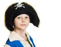 Мальчик одетый как пират Стоковые Фото