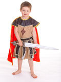 Мальчик одетый как рыцарь Стоковые Изображения RF