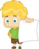 Мальчик показывая его результат бумаги для теста Бесплатная Иллюстрация