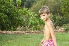 Мальчик портрета с купальником Стоковое Фото