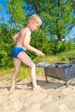 Мальчик разжигает Стоковые Изображения RF