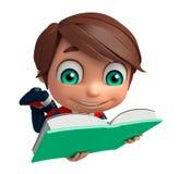 Мальчик ребенк с книгой иллюстрация штока