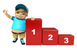 Мальчик ребенк с уровнем 123 Стоковые Изображения RF
