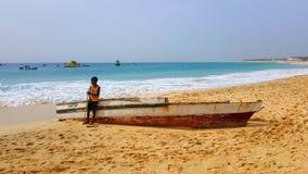 Мальчик рыболовства Стоковые Изображения RF
