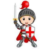 Мальчик рыцаря шаржа бесплатная иллюстрация