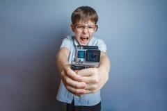 Мальчик света появления у около 10 европейцев Стоковое Фото