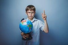 Мальчик света появления у около 10 европейцев Стоковое Изображение