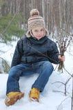 Мальчик с вербой Стоковые Фото