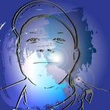 Мальчик силуэта иллюстрация штока