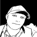 Мальчик силуэта иллюстрация вектора