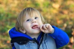 мальчик смотря вверх Стоковое Фото