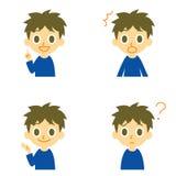 Мальчик, смущенный говорить, удивленный, Стоковая Фотография