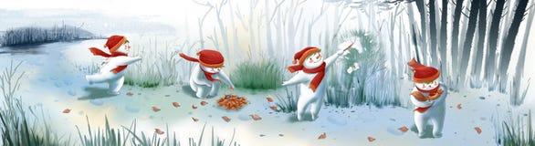 Мальчик снега Стоковое Изображение