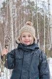 Мальчик с вербой Стоковая Фотография RF