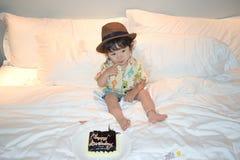 Мальчик счастливого дня рождения милый Стоковая Фотография RF