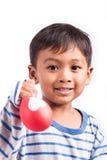 Мальчик счастливый и улыбка Стоковое фото RF