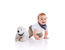 мальчик счастливый немногая Стоковое Фото