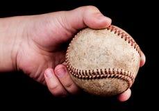 Мальчик с бейсболом Стоковое фото RF